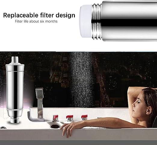 Lid iwee filtro de agua de filtro de carbón activo antical para baño ducha filtro para ducha sistema, nthärter de agua, agua, el tratamiento de un Cartuchos – Cromo: Amazon.es: Bricolaje y