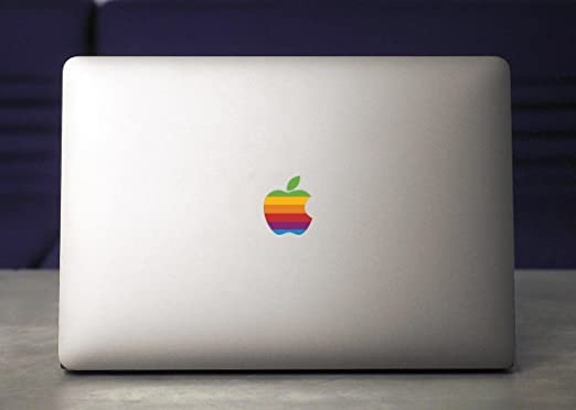Retro apple logo sticker for macbook pro 2017
