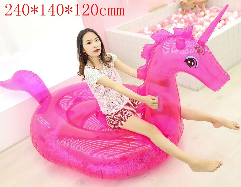 DUBAOBAO Cama Inflable Transparente del Unicornio, Hamaca Inflable de la Hamaca Inflable de la Hamaca Inflable de los 240 * 140 * 120cm, sofá Flotante de la Silla del sofá Inflable,Sillón,Red
