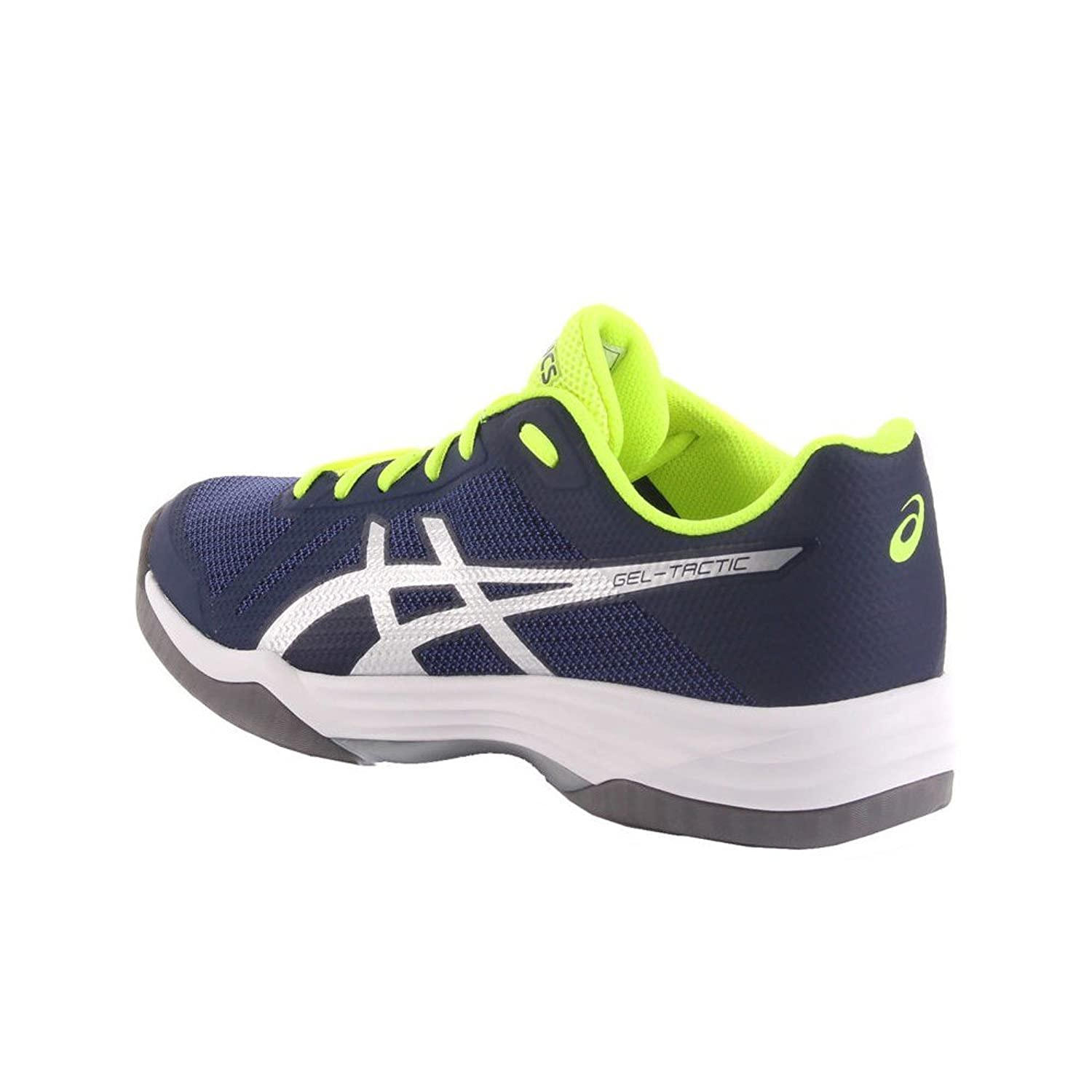 Asics Gel-Tactic, Chaussures de Volleyball Homme, Multicolore (Peacoat/Silver 400), 42.5 EU