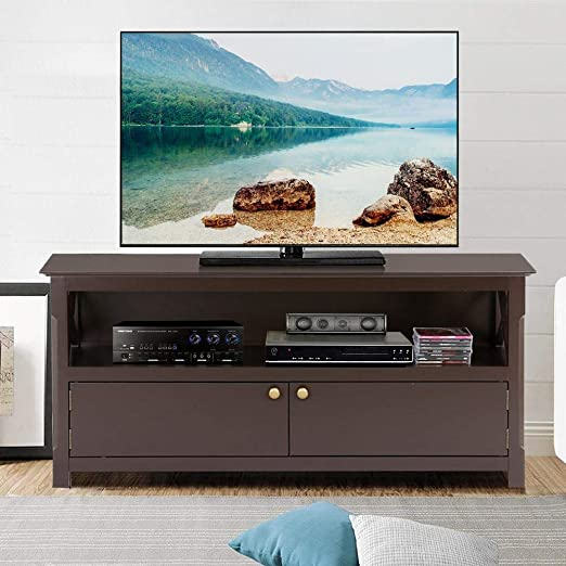 Go2buy - Mueble de Consola para televisor de Madera en Forma de X, para casa o Centro de Entretenimiento, para televisores de Pantalla Plana, Espresso: Amazon.es: Juguetes y juegos