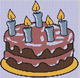 Birthday Cake Cross Stitch Pattern By Mother Bee Designs