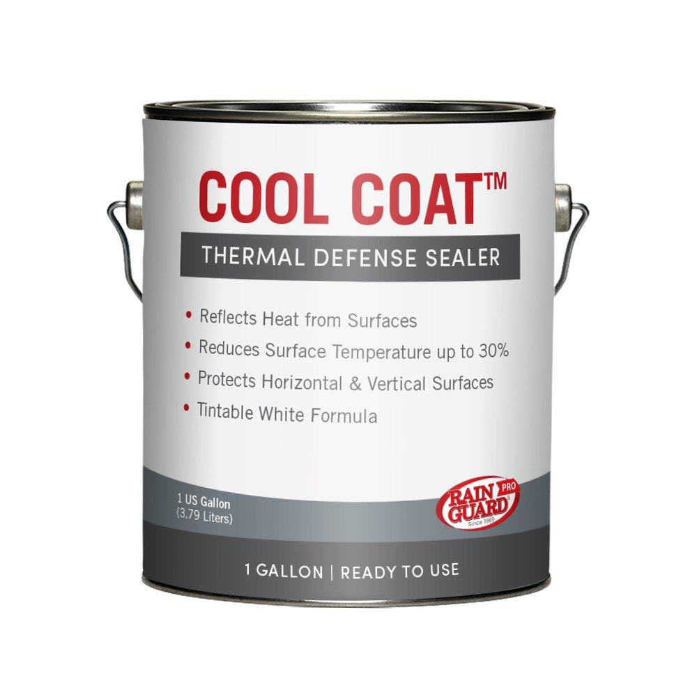 Rainguard International SP-2001 1 gal Cool Coat White Acrylic Thermal Defense Barrier Sealer, Clear, Pail
