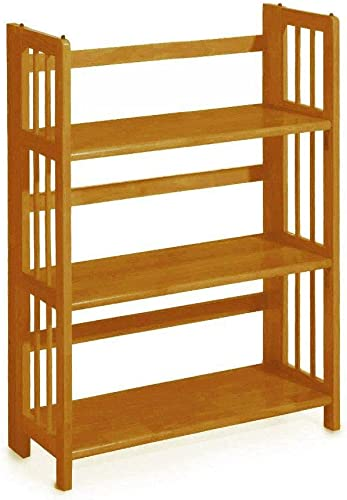 Home Decorators Collection Mission Style 38 x 27.5 Inch Natural Folding Stacking Bookcase
