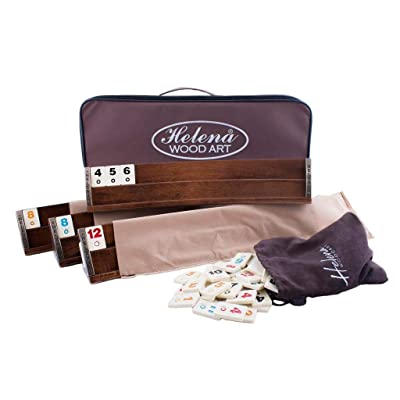 Wooden Oval Rummy Board Game Set: Toys & Games
