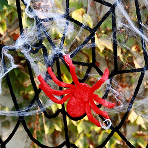 YiZYiF Halloween Spider Web for Home Fireplace Outdoor Party Festive Supplies (2.5M, -