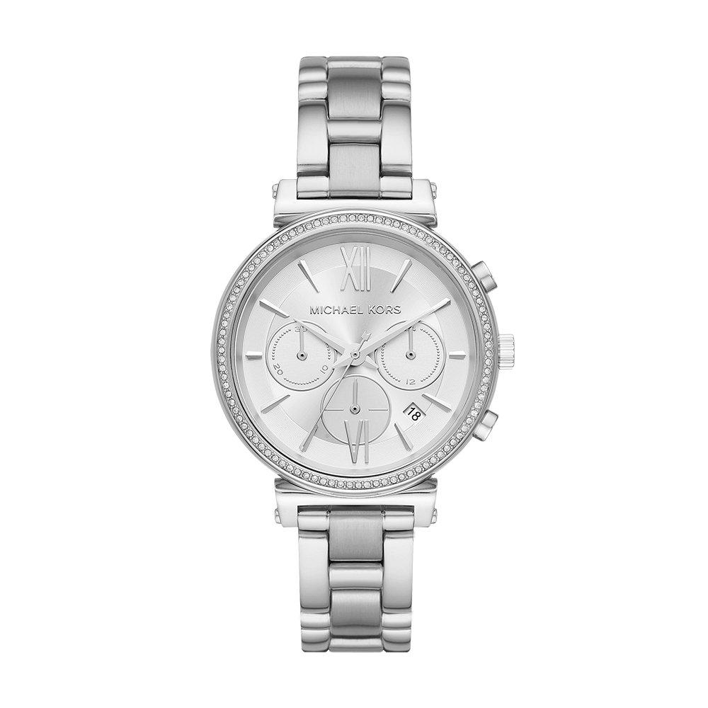 Amazon.com: Michael Kors Womens Sofie Quartz Stainless-Steel Strap, Silver, 16 Casual Watch (Model: MK6575: Michael Kors: Watches