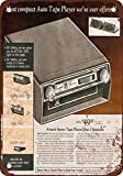 1972 Car 8-Track Tape Player Vintage Look Reproduction Metal Tin Sign 12X18 Inches