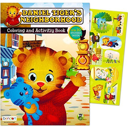Daniel Tiger Coloring and Activity Book with Stickers (Tiger Toddler)