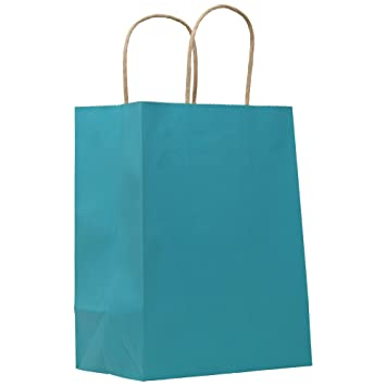 Amazon.com: PTP – Bolsas de papel kraft de color y rayas ...