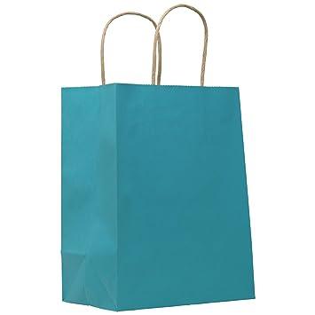 Amazon.com: PTP – Bolsas de papel kraft de color y rayas ...