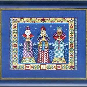 Three Kings - Beaded Cross Stitch Kit - Jim Shore Designs JSP006E