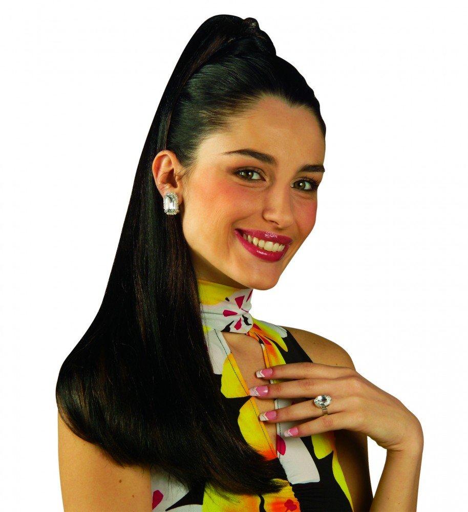 shoperama Haar-Verlängerung - Langer Zopf an Haarspange - Haarteil Pferdeschwanz , Farbe: Schwarz