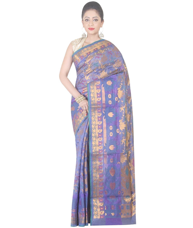 Indian Ethnic Banarasi Art Silk Blue Short tone Banarasi Handloom Saree