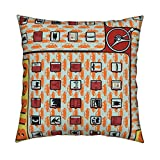 Roostery Highways Velvet Throw Pillow Cover Road Trip Bingo! by Thirdhalfstudios Cover Only