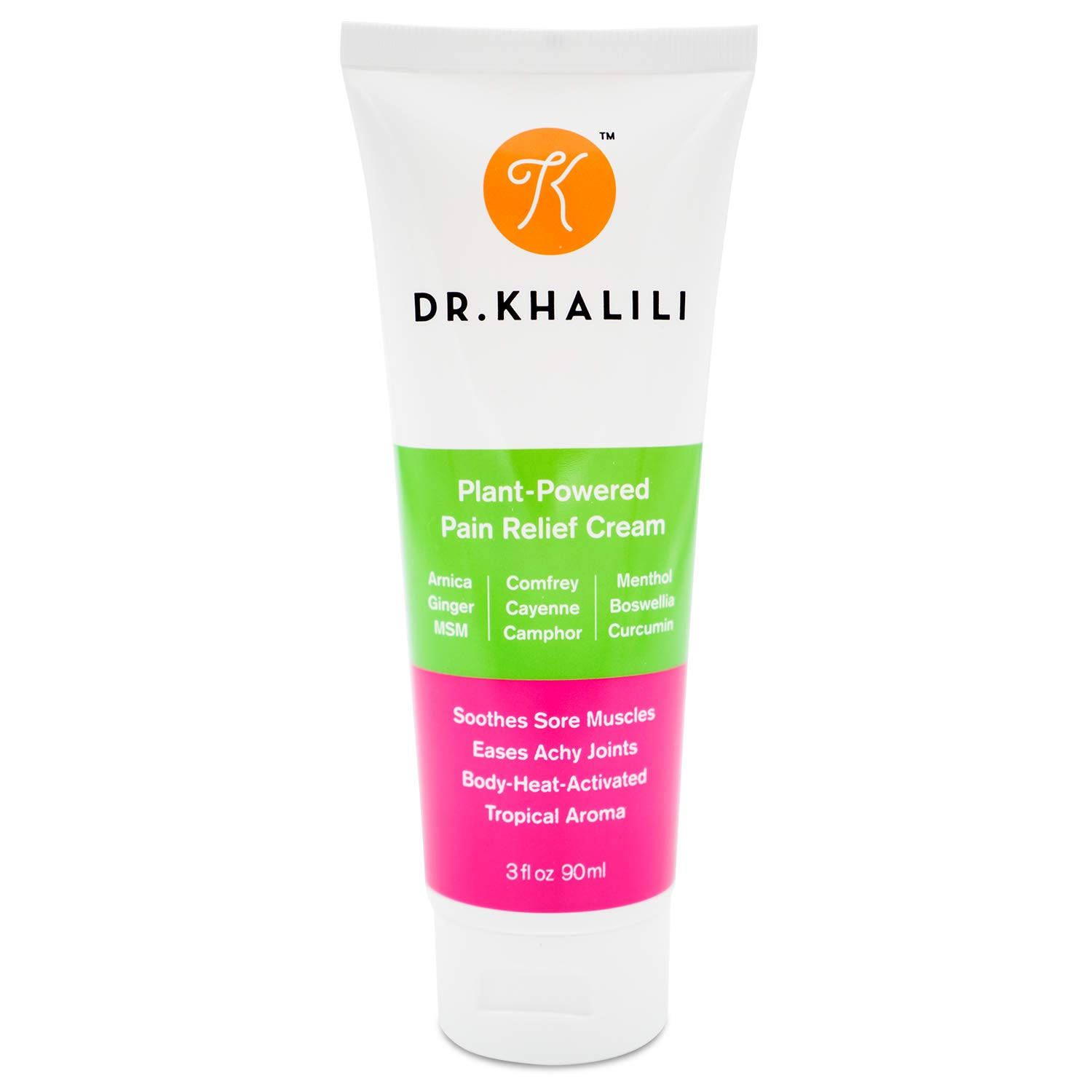 Khalili Natural Pain Relief Cream - Dual-Activation Pain Relief Cream Fast Muscle Pain Relief, Back Pain Relief, Exercise Recovery, Sports Injury & more. Move Better, Feel Better & Perform Better