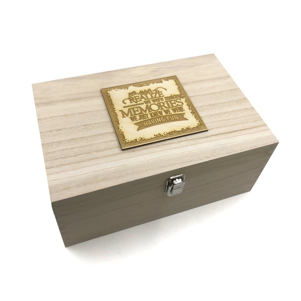 Raised Words Large Wooden Making Memories Keepsake Box