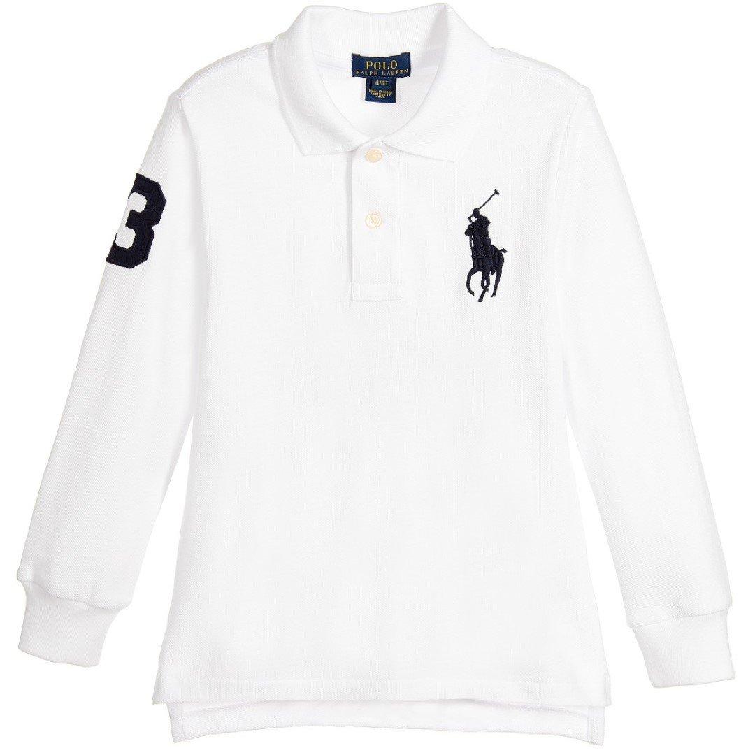 Ralph Lauren - Camiseta de manga corta - para niño blanco blanco ...