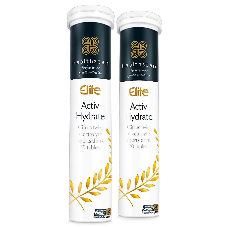 Healthspan Elite Activ Hydrate to Replenish Essential Electrolytes, 40 Effervescent Tablets, Vegan (Citrus)