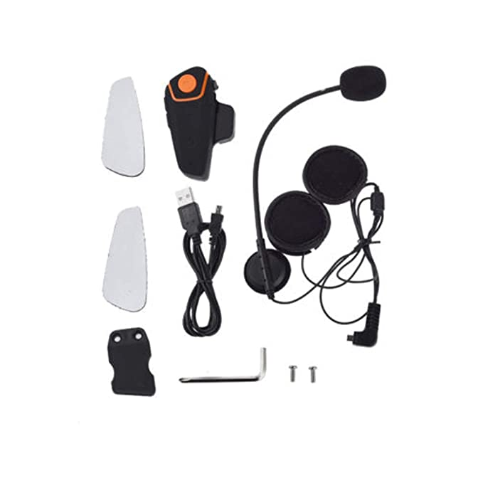 42ebb194020 Image Unavailable. Image not available for. Color: QTA35 Bluetooth  Motorcycle Helmet Headset Intercom Communication Headphone ...