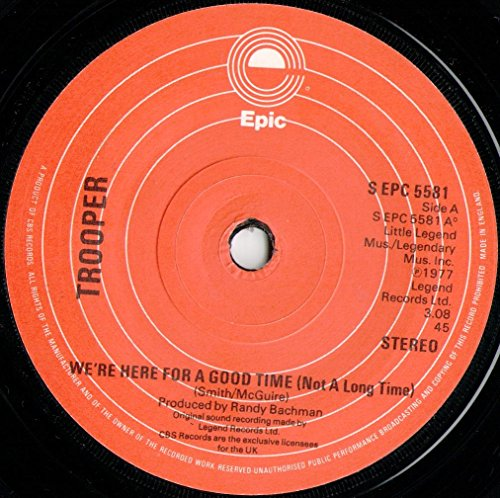 Trooper - We're Here For A Good Time (Not A Long Time) - 7