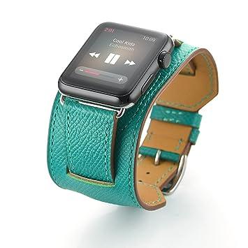 OMEE para IWatch Band - Correas para Relojes Apple 38mm 40mm 42mm 44mm Correa De Cuero Reemplazo ...