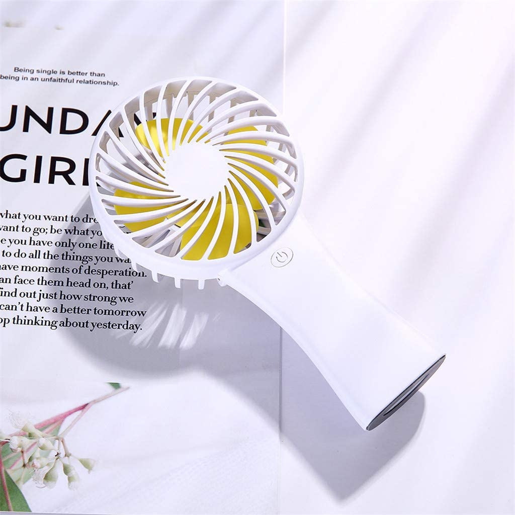 White, 9/×4/×17 cm LARNOR Mini Handheld Fan,Personal Portable Desk Stroller Table Fan Cooling Electric Fan 9/×4/×17 cm.
