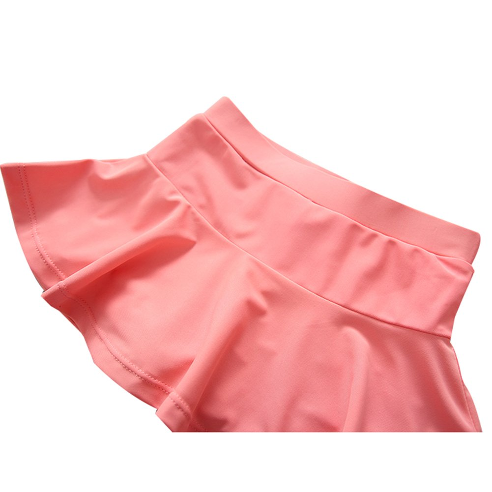 UV Sun Protective Baby Girls 2pc Swimsuit Long Sleeve Rash Guards Bathing Suit Ruffle Swimdress UPF 50+