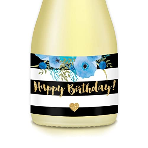 Ladys Happy Birthday Gift Ideas Presents Decorations Womans Surprise Party 20 Count 35 X 175 Mini Champagne Wine Bottle Labels Celebrating Mom