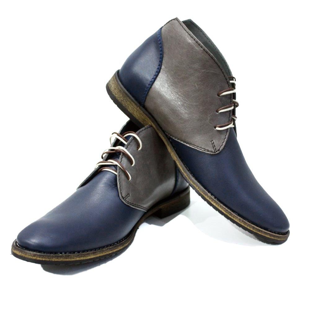 Peppeschuhe Modello Parella - Handgemachtes Italienisch Bunte Herrenschuhe Herrenschuhe Herrenschuhe Lederschuhe Herren Navy blau Stiefeletten Chukka Stiefel - Rindsleder Weiches Leder - Schnüren B01DKT97M4 7a6761