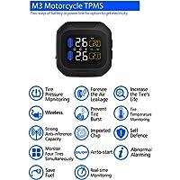 Ocamo M3 Motorcycle TPMS Sistema de monitoreo de presión de neumáticos 2 Sensor Externo Pantalla LCD inalámbrica Moto Auto Tire Tire Systems