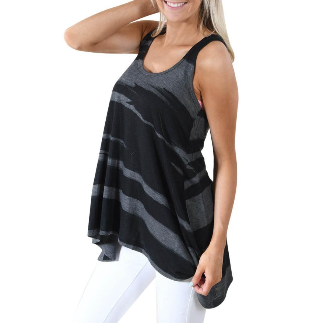 Damen Blusen Ronamick Frau Beil/äufiges /Ärmelloses Camouflage Crop Top Weste Tank Shirt Bluse Cami Top