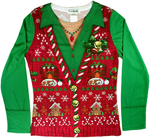 Faux Ladies Ugly Xmas Sweater