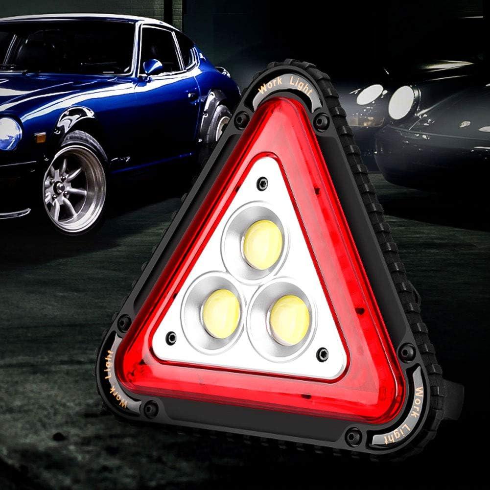 Car Road Emergency Lamp COB Rechargeable Car Repair Flood Light 30W for Car Repairing Job Site Lighting 30W LED Portable Traffic Work Light SaponinTree Warning Triangle LED Work Light