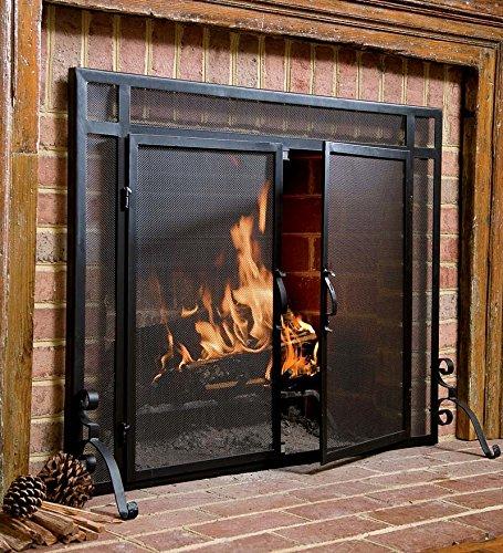 2 door Solid Steel Flat Guard Fire Screen Size 39w X 31h