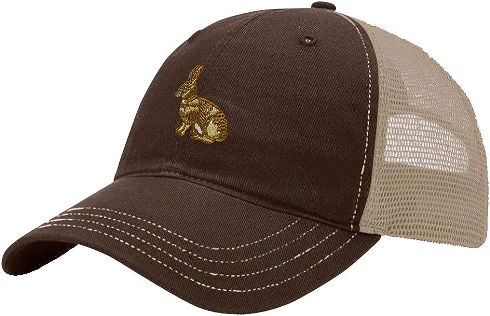 Custom Trucker Hat Richardson European Rabbit Embroidery Animal Name Cotton
