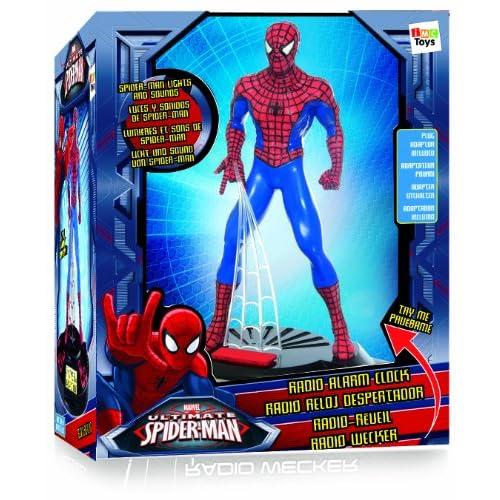 IMC Toys Spiderman - 550919 - Jeu Électronique - Radio Réveil Figurine - Spider-Man 4