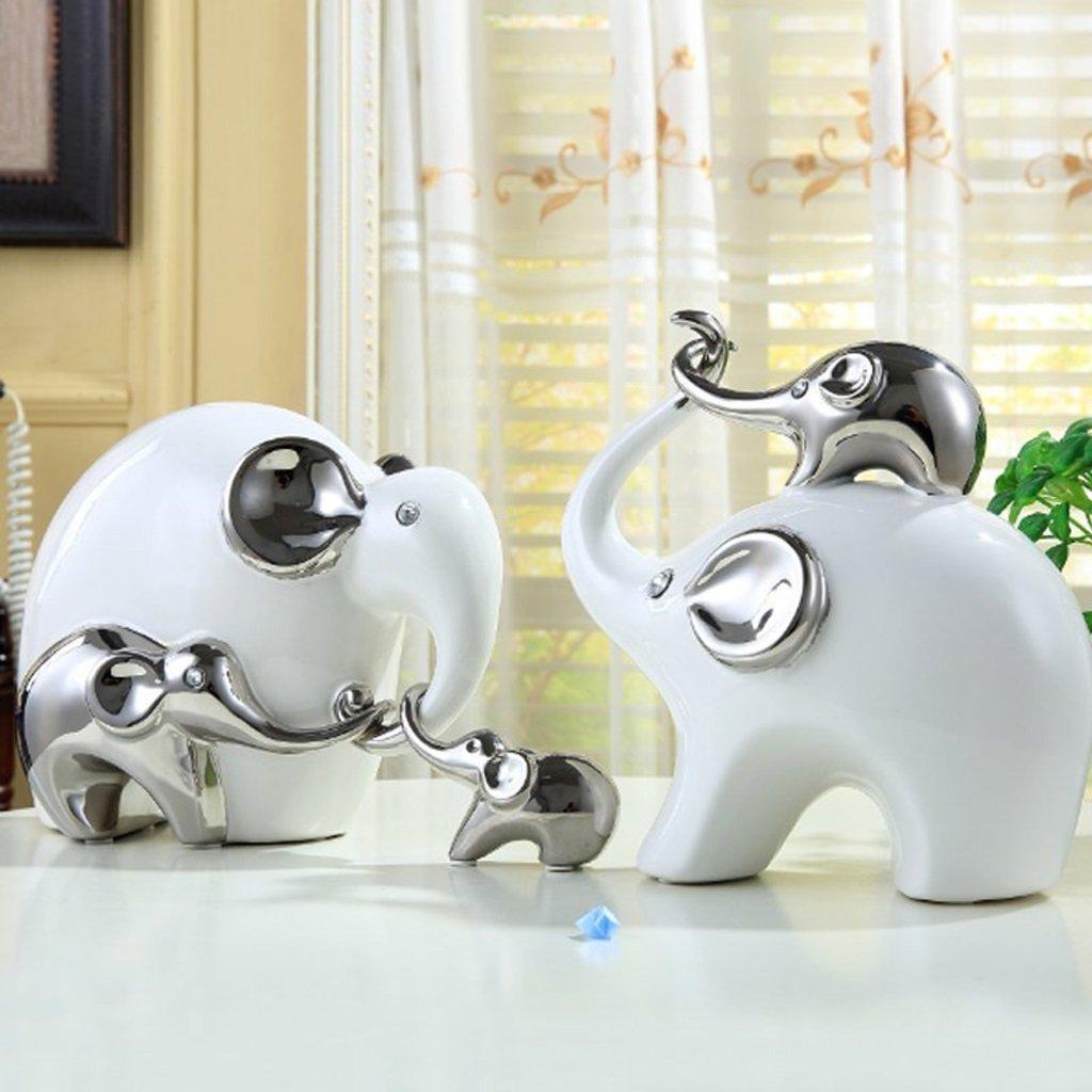 Elefante animale decorazione di Lucky Ceramica Creativo ingresso Modern Living Crafts Camera Home Decorazioni