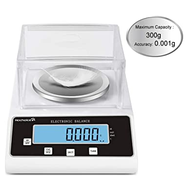 US 300 x 0.001g 1mg Lab Jewelry Scale Electronic Analytical Precision Experiment Balance Digital 0.001g Scientific Lab Instrument with 300g Calibration Weight Ready to Use