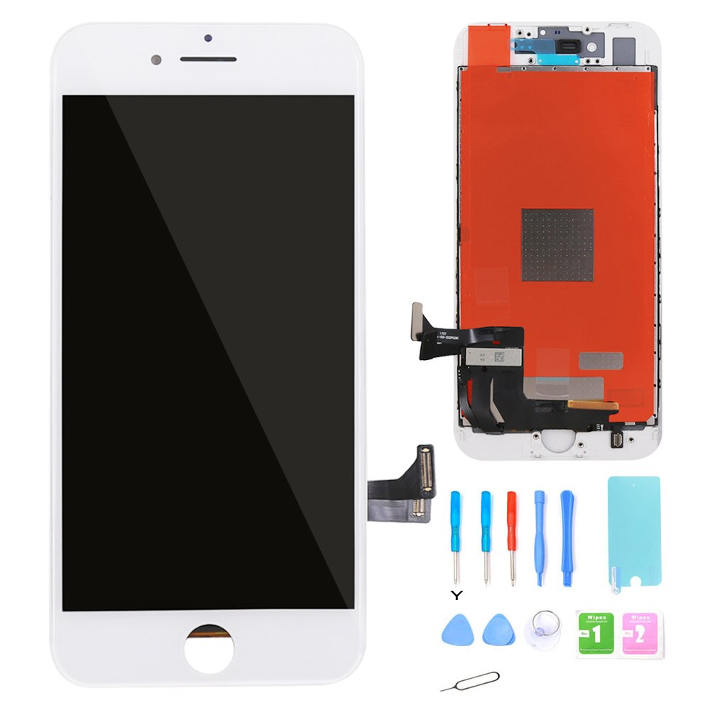 for iPhone 8 Screen Replacement LCD Display - 2018 White 4.7 inch Touch Screen Digitizer Frame Assembly Full Set Repair Guide ibaye