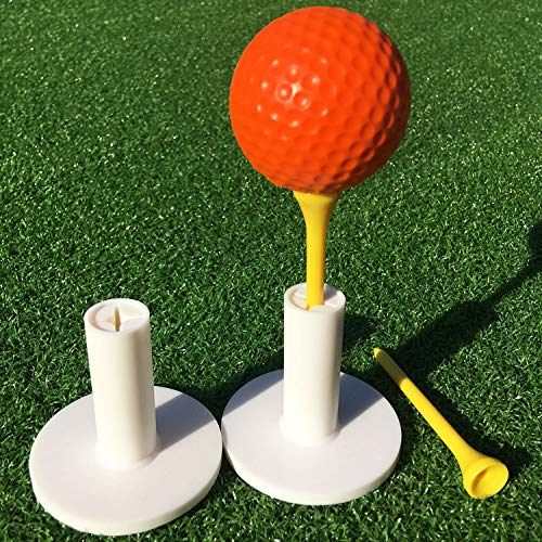SkyLife Golf Rubber Tee Holder Set 2inch 2 Count for Driving Range Golf Practice Mat (2in 2count)
