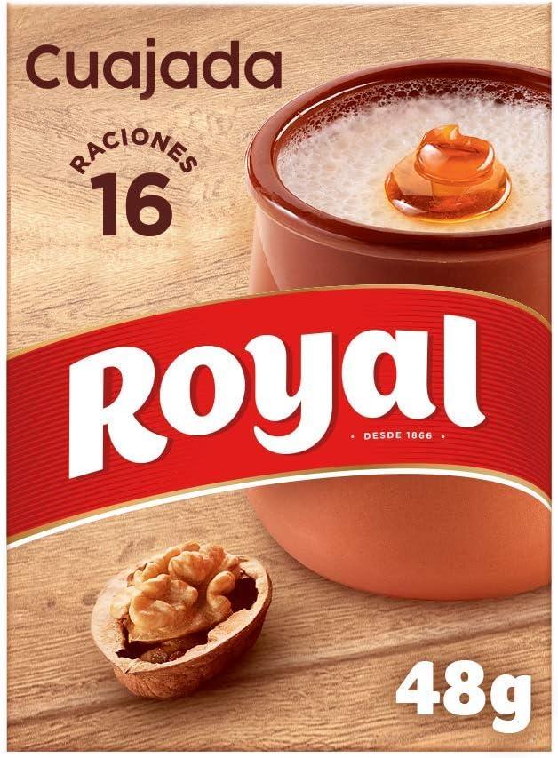 Royal Cuajada Tradicional Azucarada en Polvo 16 Raciones, 48g ...