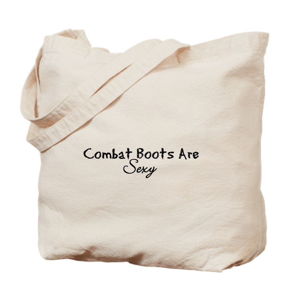 CafePress - Combat Boots Are Sexy - Natural Canvas Tote Bag, Cloth Shopping Bag