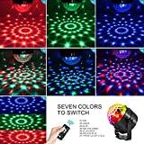 AOMEES Disco Ball Party Lights Strobe Light 3W Sound Activated DJ Lights Stage Lights for Halloween Christmas Holiday Party Gift Kids Birthday Celebration Decorations Ballroom Home Karaoke Dance Light