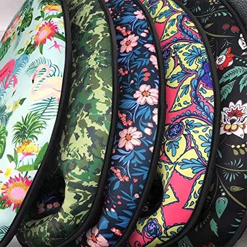 GFEU Gardening Kniekissen mit Griffen Dickes wasserdichtes Memory Foam Knieschoner-Mattenkissen für die Gartenarbeit, Arbeits-Yoga-Übung, Zufallsmuster