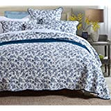 BEIRU Cotton Quilted Bed Cover Three-piece Blue-and-white Porcelain Printed Bed Linen Three-piece Summer Air Conditioning Summer Cool ZXCV (Size : 234270CM)