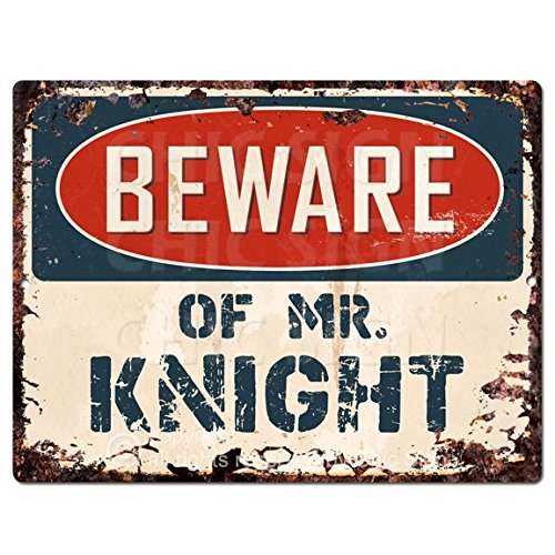 (Beware of MR. KNIGHT Chic Sign Vintage Retro Rustic 9