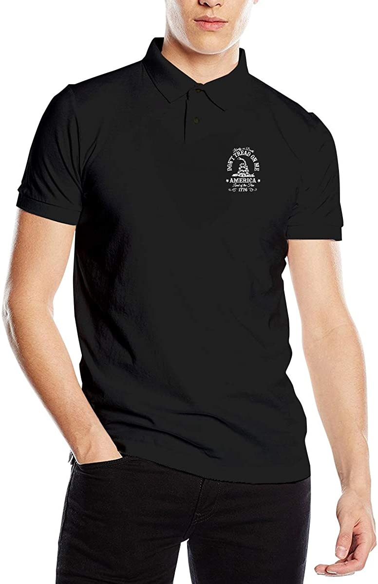 Dont Tread On Me Mens Regular-Fit Cotton Polo Shirt Short Sleeve