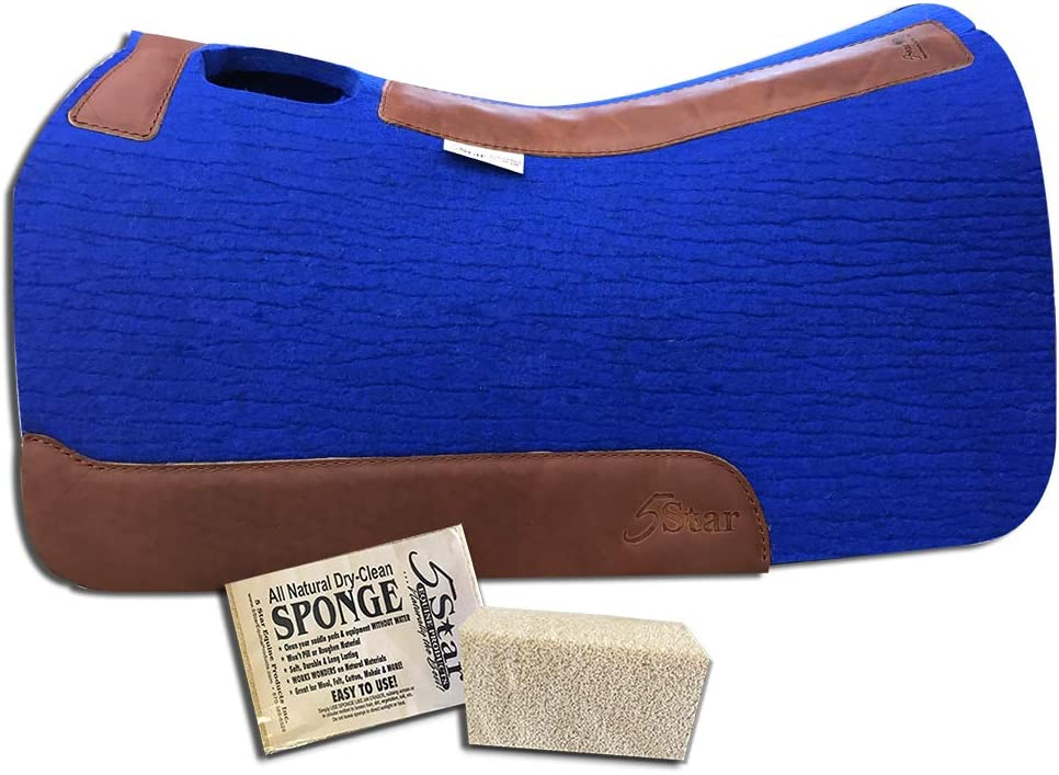 5 Star Equine Products 7//8 Thick Western Contoured Pad 30 x 30