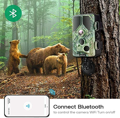 CAMPARK WIFI BLUETOOTH TRAIL CAMERA 20MP 1296P WITH 940NM IR LEDS NIGHT VISION MOTION ACTIVATED IP66 WATERPROOF FOR WILDLIFE MONITORING
